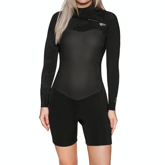 Roxy 2/2mm Performance Long-Sleeve Chest-Zip Shorty Ladies Wetsuit