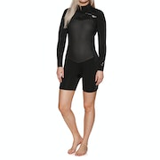 Roxy 2/2mm Performance Long-Sleeve Chest-Zip Shorty Womens Wetsuit