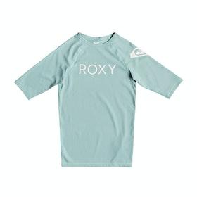 Roxy Funny Waves Short Sleeve UPF 50 Girls Rash Vest - Atlantis
