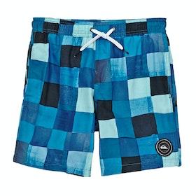 Quiksilver Resin Check 15in Boys Swim Shorts - Malibu
