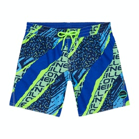 Shorts de natación Boys O'Neill Strike Out - Blue AOP Green