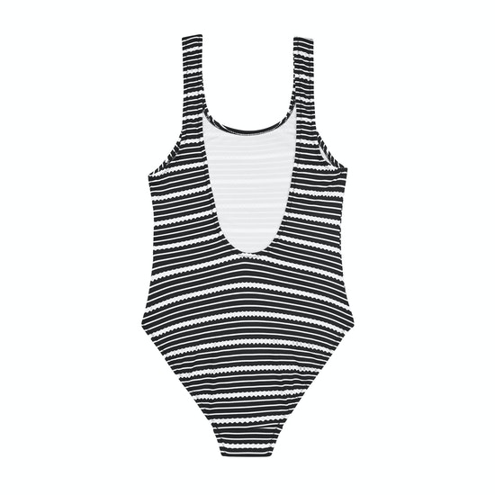 Seafolly 80s Stripe Mädchen Badeanzug