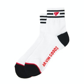 Arvin Goods Crew Socken - White