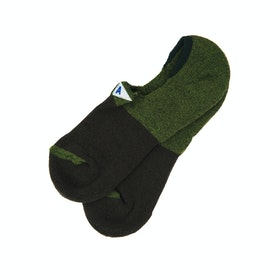 Arvin Goods No Show Socks - Olive Green