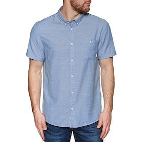 Quiksilver Waterfalls Short Sleeve Shirt - Stone Wash