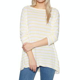 SWELL Sandi Long Sleeve T-Shirt - Yellow Stripe