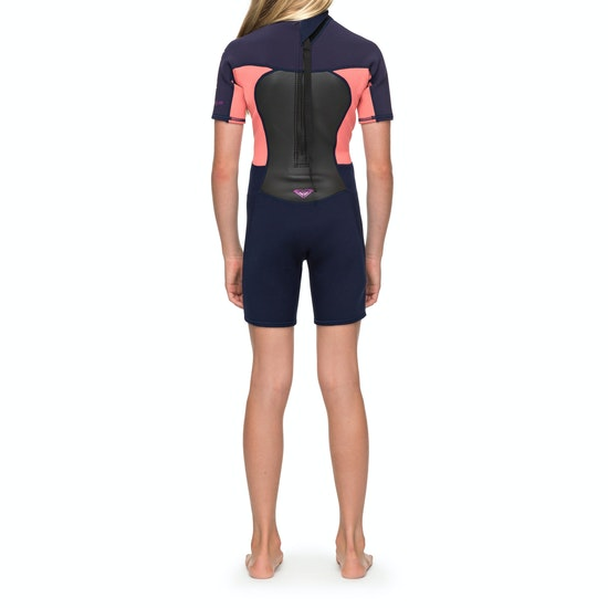 Roxy 2/2mm Prologue Back-Zip Shorty Girls Wetsuit