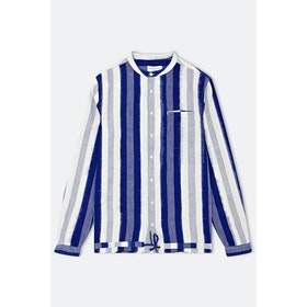 YMC Beach L S Shirt - Blue