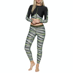 Leggings Femme Speedo Reflect Wave Allover - Black Zest White
