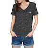 T-Shirt à Manche Courte Femme Superdry Essential Vee - Black