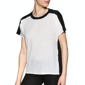 Icebreaker Kinetica Crewe Womens Short Sleeve T-Shirt - Snow Black