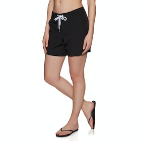SWELL Maddy Mid Womens Boardshorts - Black