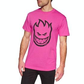 Spitfire Bighead Short Sleeve T-Shirt - Hot Pink Black