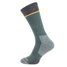 Sealskinz Solo Quickdry Mid Length Outdoor Socks - Green Grey Orange