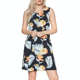 Roxy Harlem Vibes Dress - Anthracite Tropical Love