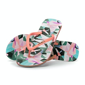 Sandales O'Neill M And M Print - White Aop W/ Green