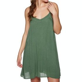 Roxy Off We Go Strappy Dress - Duck Green