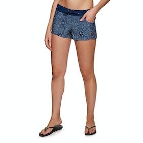 Roxy Salt Retreats Semi Elastic Printed Womens Boardshorts - Med Blue