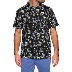 Superdry Seattle Skate Short Sleeve Shirt - Akio Black