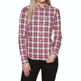 Jack Wills Homefore Check Womens Shirt - Red