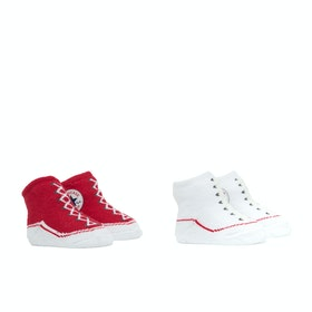 Converse 2 Pair Booties Baby Socks - Red