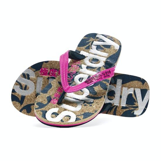 Superdry Printed Cork Flip Flop Womens Sandals