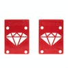 Diamond Supply Co Rise And Shine Skateboard Risers - Red