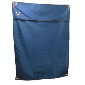 Mark Todd Stable Door Drape Deluxe Boxensperre - Navy Brown