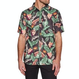 Diamond Supply Co Tropical Paradise Woven Short Sleeve Shirt - Black