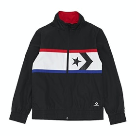 Converse Star Chevron Woven Wind Kids Jacket - Black