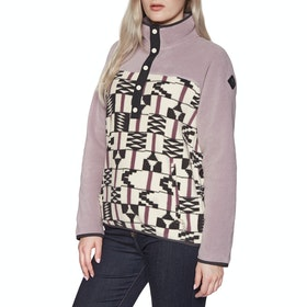 Burton Hearth Womens Fleece - Quail Flint Brickstripe