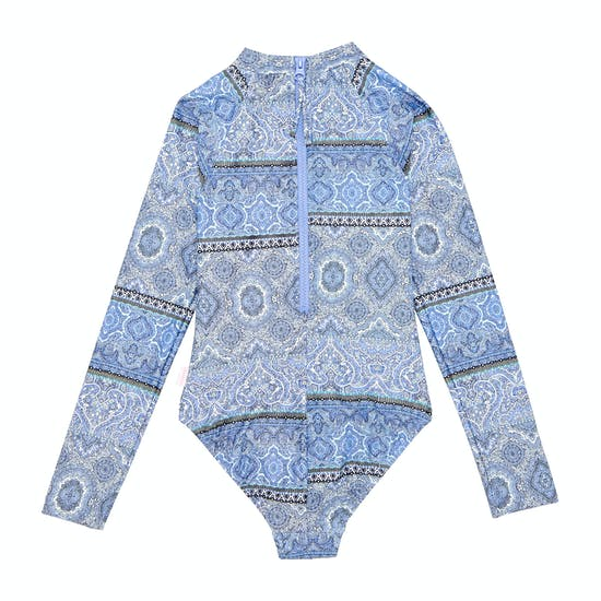 Seafolly Pop Palace Long Sleeve Girls Swimsuit