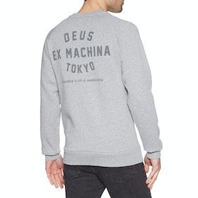 Sudadera Deus Ex Machina Tokyo Address Crew - Grey Marle