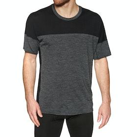 Icebreaker Kinetica Crewe Short Sleeve T-Shirt - Black Heather