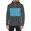 Pile North Face Blocked Full Zip Hooded - Asphalt Grey Storm Blue