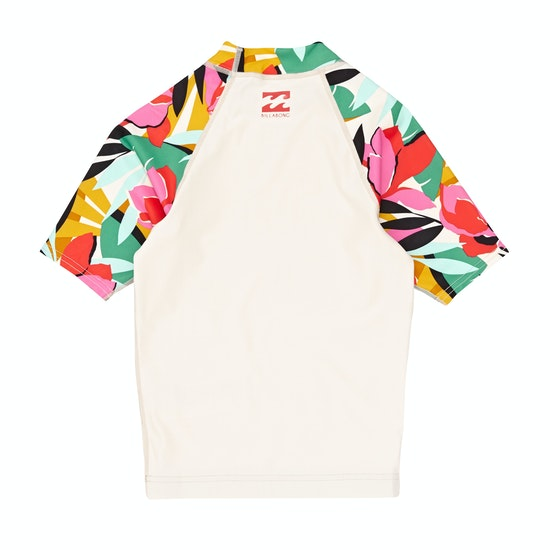 Billabong Flower Short Sleeve Girls Rash Vest