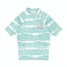 Billabong Flower Short Sleeve Girls Rash Vest - Stripes