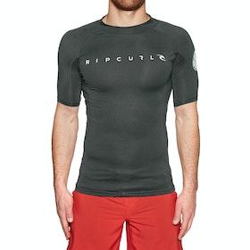 Rip Curl Dawn Patrol UV Short Sleeve Rash Vest - Black Marled