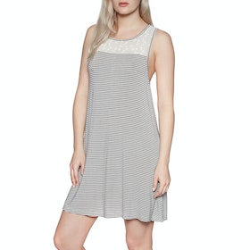 Roxy What Lovers Do Dress - Anthracite Cosy Stripes