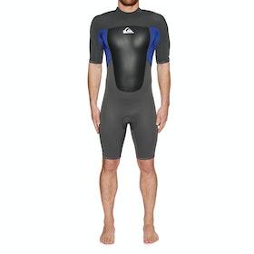 Quiksilver 2/2mm Prologue Back Zip Shorty Wetsuit - Jet Black Nite Blue