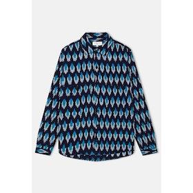 YMC Doc Savage L S Shirt - Blue