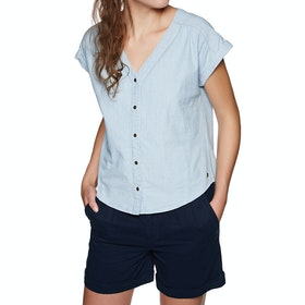 Roxy Feel The Bronx Womens Top - Light Blue