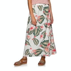 Roxy From Monroe To Madison Skirt - Marshmallow Tropical Love