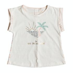 Camiseta de manga corta Girls Roxy From The Jump - Marshmallow