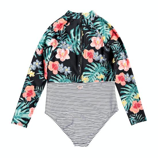 Roxy Happy Spring Long Sleeve Girls Swimsuit