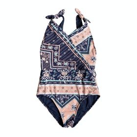 Костюм для плавания Girls Roxy Heart In The Waves 1pc - Med Blue