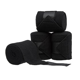 Derby House Pro Pack of 4 Fleece Polo Bandage - Black