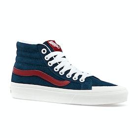Vans Sk8 Hi Reissue 138 Shoes - Sailor Blue Tango Red