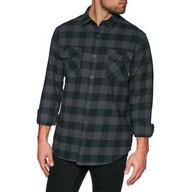 Burton Brighton Flannel Shirt - True Black Heather Buff