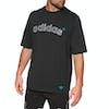 Adidas Originals Archive Logo Embroidered Short Sleeve T-Shirt - Black